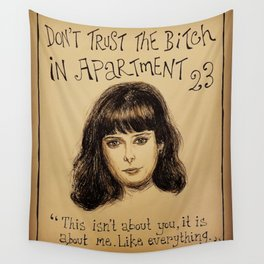 (Krysten Ritter - Don't trust the bitch in apartment 23) - yks by ofs珊 Wall Tapestry