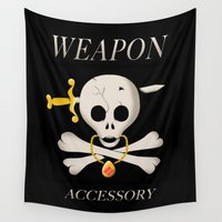 final fantasy Wall Tapestries featuring Weapon Accessory - Final Fantasy VII by Studio Momo╰༼ ಠ益ಠ ༽