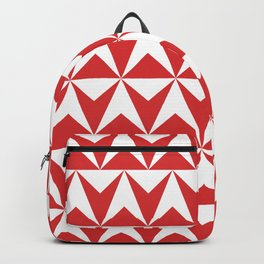Mid Century Modern Triangle Pattern 531 Red Backpack