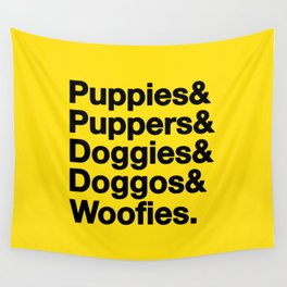 & Puppies Wall Tapestry