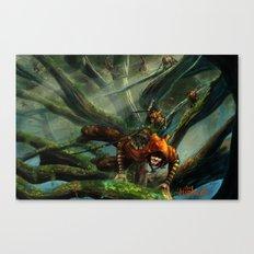 Forest Parkour  Canvas Print