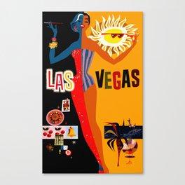 Vintage Las Vegas Travel Poster Canvas Print