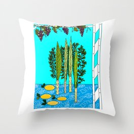 A Sukkot, Lulav and Estrog, Celebration Throw Pillow