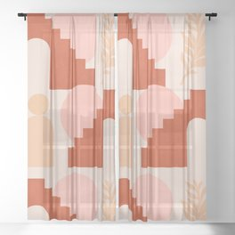 Abstraction_SHAPES_Architecture_Minimalism_003 Sheer Curtain