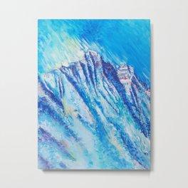 VANISHING BLUE DOM Metal Print