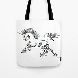 Tribal Unicorn Tote Bag