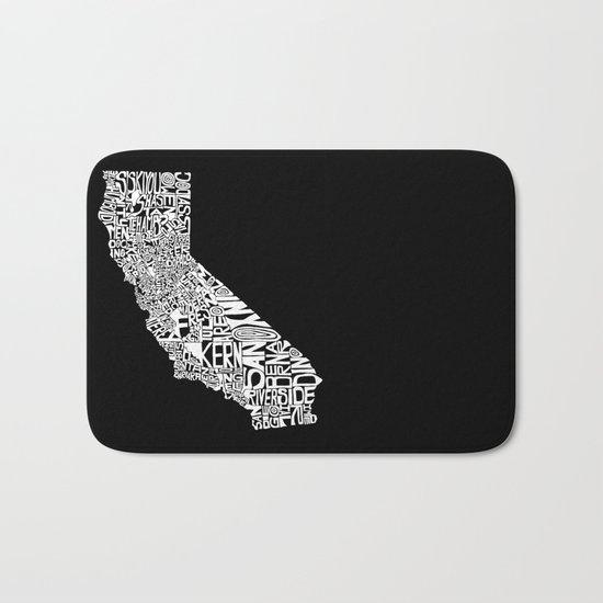 Typographic California Bath Mat