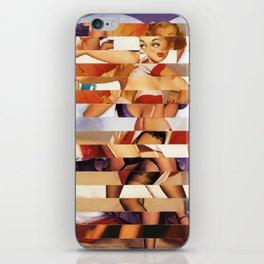 Glitch Pin-Up Redux: Amber iPhone Skin