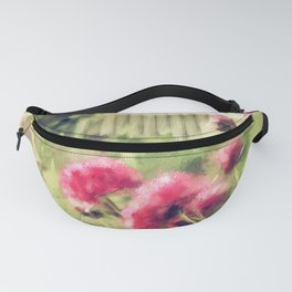 Pink Peonies In A Vintage Garden Fanny Pack