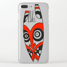 Tribal mask present bright Clear iPhone Case