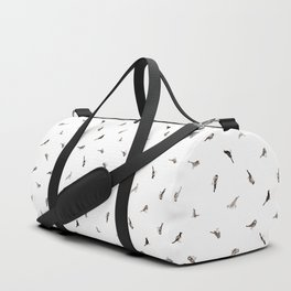 Garden Birds in Monochrome (Fine) Duffle Bag