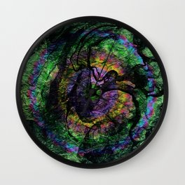 abstract ink marble 1 Wall Clock