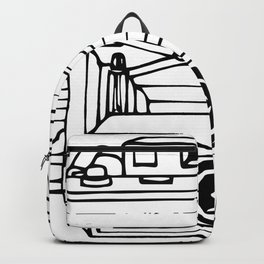 Vintage Bellows Camera Drawing Backpack