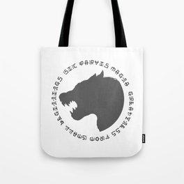Sic Parvas Magna Tote Bag