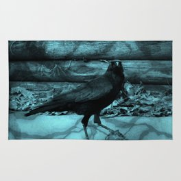 Blue Crow Shadows Rug