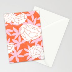 Zen Floral _ pink& coral Stationery Cards
