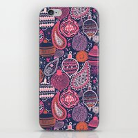 bohemian iPhone & iPod Skins featuring Bohemian Christmas by Demi Goutte