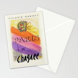 Paris, France Vintage Marc Chagall Art Show Mourlot Exhibition Advertisement Vintage Poster Stationery Cards