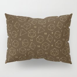 Outline of Dice in Gold + Brown Pillow Sham