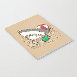 Sandy Beach Shark Notebook
