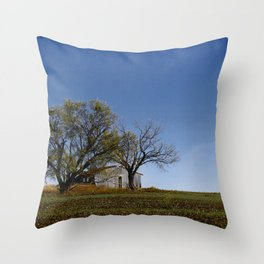 Outside Clyde Throw Pillow