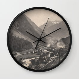 Old Swiss Mountain Litho Wall Clock