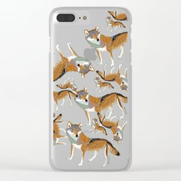 Eastern Wolf (Canis lupus lycaon) (c) 2017 Clear iPhone Case