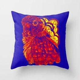 Sunset Conure Throw Pillow