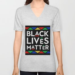 Black Lives Matter portrait Unisex V-Neck