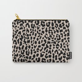 Tan Leopard Carry-All Pouch
