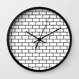 Brick Wall (W) Wall Clock