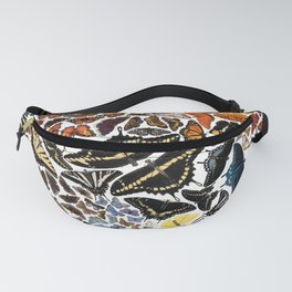 Butterflies of North America Pattern Fanny Pack