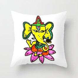 Ganesha by Elisavet Throw Pillow
