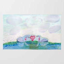 Swan Love Rug