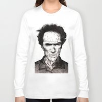 clint eastwood Long Sleeve T-shirts featuring Clint Eastwood by Danielle Ross