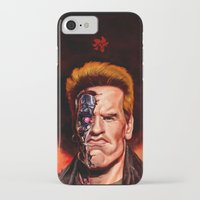 terminator iPhone & iPod Cases featuring The Terminator by UTHZEN