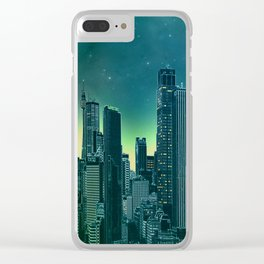 Night city [turquoise] Clear iPhone Case