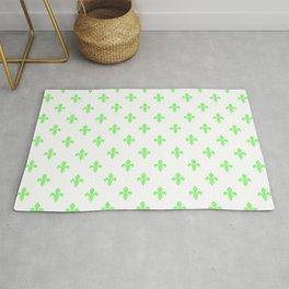 Fleur-de-Lis (Light Green & White Pattern) Rug