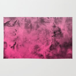Liquid Space Nebula : Gray to Pink Ombre Gradient Rug