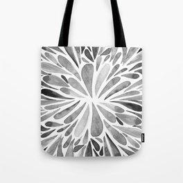 Symmetric drops - black and white Tote Bag