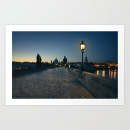 Charles Bridge at Blue Hour Art Print