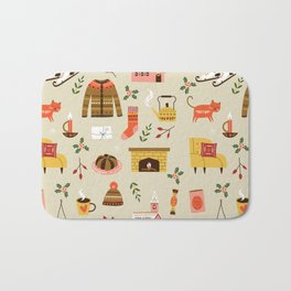 winter hygge Bath Mat