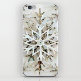 Glistening Christmas Snowflakes iPhone Skin