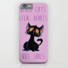 Black Cats Steal Hearts not Souls Slim Case iPhone 6s