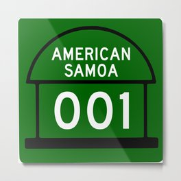 American Samoa Highway 001 Shield  Metal Print