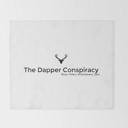 Simple Logo Black Throw Blanket