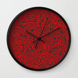 Haring Doodles Variation #10 Wall Clock