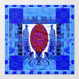Medusa's Quilt (Moody Blue) Canvas Print