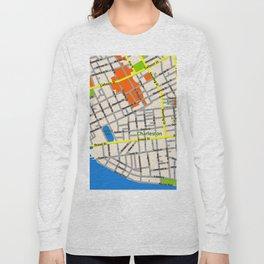 Map of Charleston, SC Long Sleeve T-shirt