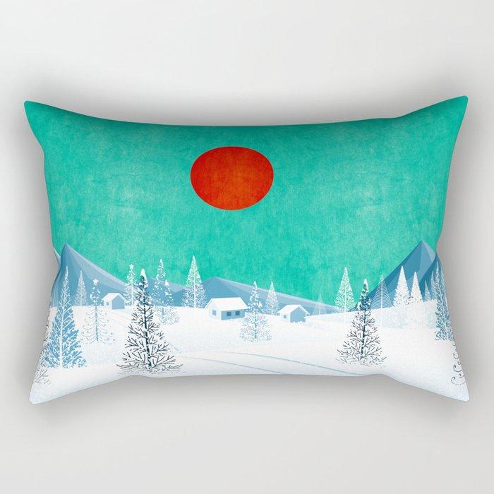 Winter Nature Rectangular Pillow